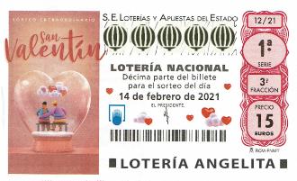 Lotería Nacional Sorteo Extraordinario De San Valentin Información Del Sorteo Nº 12 Del 14 De Febrero Del 2021