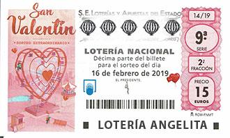 Lotería Nacional Extraordinario De San Valentín Información Del Sorteo Nº 14 Del 16 De Febrero Del 2019
