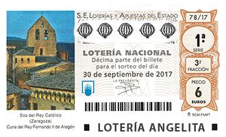 loteria nacional 30 septiembre 2017